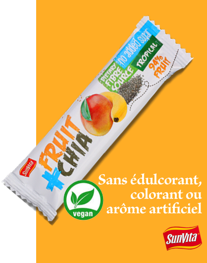 Sans édulcorant, colorant ou arôme artificiel